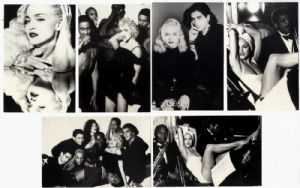 IN BED WITH MADONNA (TRUTH OR DARE) - UK LTD EDITION POSTCARD / PHOTO SET